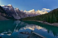 Moraine Lake 2015 (John Andersen (JPAndersen images)) Tags: alberta banff blue dawn morainelake mountain reflections