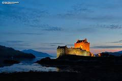 Eilean Donan Castle at dusk (Nigel Blake, 16 MILLION views! Many thanks!) Tags: eilean donan castle dusk scotland iconic building historic loch dornie westscotland nigelblakephotography nigelblake