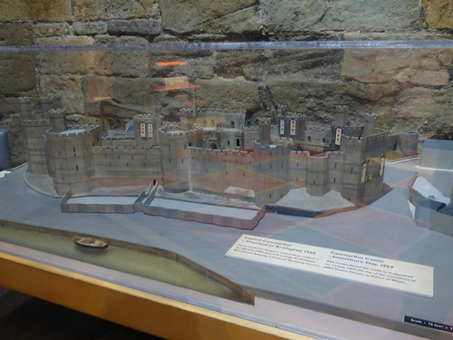 Caernarfon Castle - Eagle Tower - The Story of the Prince of Wales - model of Caernarfon Castle in 1969
