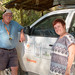 Rolf and Gail at Camp Synchro on the Kunene River