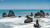 Rocks in the Sea (Ron Scubadiver's Wild Life) Tags: newzealand landscape sea water rocks sky horizon nikon 24120
