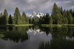 Teton Reflection1 (Jenware Photography) Tags: d850 jenwarephotography nikon nps snow mountain reflection water calm sunrise morning national park nationalpark grandteton