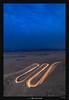 Makhtesh Ramon Light Trails (Ilan Shacham) Tags: landscape view scenic light lighttrail cars evening dusk blue scurve nature desert fineart fineartphotography makhteshramon mitzperamon negev israel road curve