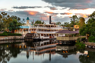 Sunset, Reflections & The Liberty Belle