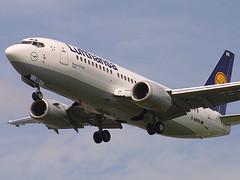 D-ABXR, London Heathrow, June 7th 2003 (Southsea_Matt) Tags: dabxr lufthansa staralliance boeing 737330 egll lhr londonheathrow greaterlondon england unitedkingdom june 2003 summer canon d30 airplane aviation airport jet aeroplane celle