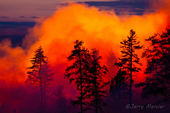 _MG_7705 - Forest fire.   ©Jerry Mercier (j. mercier) Tags: nature northernwisconsin beauty beautiful fire fiery flame flames forest forestfire forestfires woods jerrymercier mercier canon wisconsin light color colors colorful red orange yellow tree smoke smokey billowing controlled burn burning burns sunset chequamegonnicoletnationalforest nationalforest outdoor outside outdoors controlledburn fireflameflamesburncontrollednorthernwisconsin bayfieldcounty evening night prescribed prescribedburn
