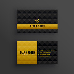 Business Card premium luxury business card design with diamond pattern (Best Designer BD) Tags: business card design vector template corporate professional elegant modern creative visiting brand identity id layout contact graphic abstract office print premium luxury gold black pattern diamond golden