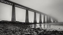 Fog on the Forth (jasty78) Tags: forthrailbridge forthbridge bw mono bridge fog mist scotland nikond7200 tokina1116mm blackwhite