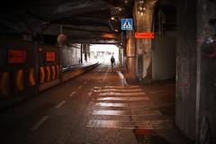 Man in tunnel (Helena Normark) Tags: tunnel manintunnel slussen urban street streetphotography stockholm sweden sverige sonyalpha7ii a7ii 35mm lensbaby burnside35 lensbabyburnside35 lensbabylove seeinanewway