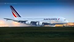 AIR FRANCE A380-861 (lavierphilippephotographie) Tags: a380 a380861 airbus airbusindustries jumbojet superheavy plane airplane aircraft airline airliner airfrance skyteam longhaul longcourrier cdg roissy