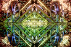 The Demons Funfair (Mr Clicker / Davin) Tags: mr clicker davin kaleidoscope kaleidoscopic 4way 4waymirror edit art arty artistic
