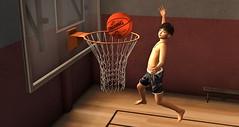 Mike as a basketball player (1) (mikebastlir) Tags: basketball ball boy child kid children secondlife virtual world game sport improve jump player gym