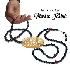 black and red plastic tasbih (thetasbih.com) Tags: tasbih tasbeh tasbeeh prayer beads rosary prayerbeads sibha misbaha zikir zikr