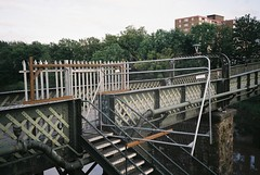 Vauxhall Bridge (knautia) Tags: vauxhallbridge riveravon bridge footbridge bristol england uk may 2018 film ishootfilm olympus xa2 fuji superia 400iso olympusxa2 nxa2roll17 chocolatepath commute commuting myfavouritefromtheroll