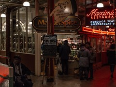 Pike Place Market 3 (Jasonnwolf) Tags: seattle washington washingtonstate pikeplacemarket publicmarket neonlights market grain