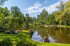Pond  in Japanese Garden in Tallinn (AudioClassic) Tags: pond tallinn japanese garden tree landscape leaf lake foliagé river estonia fourseasons reflection scenics water nature backgrounds colors beautiful lushfoliage multicolored spring may