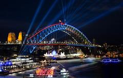 Vivid 2018 || Sydney (David Marriott - Sydney) Tags: sydney newsouthwales australia au vivid 2018 nsw cafe circular quay long exposure harbour bridge luna park night nightscape