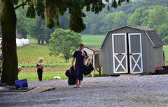 amish family (bluebird87) Tags: boy girl amish yard sale nikon d7200