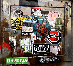stickers in Hamburg (wojofoto) Tags: stickers stickerart sticker wojo hamburg germany deutschland streetart wojofoto wolfgangjosten