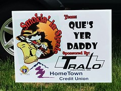 Que's Yer Daddy (rabidscottsman) Tags: scotthendersonphotography sign bbq wolf hat suit eating smile smokininsteele weekend saturday appleiphone hometowncreditunion knightsofcolumbus ribs whosyourdaddy quesyerdaddy funny humor competition tralo semi mn minnesota owatonnaminnesota steelecountyfairgrounds iphone iphone8 cellphonephotography ios creativity