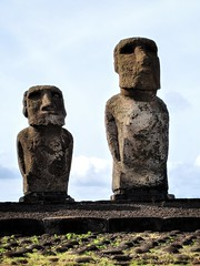 Tongariki Two of the Ten Maoi Archeological Site Easter Island Chile (Barbara Brundage) Tags: tongariki two ten maoi archeological site easter island chile