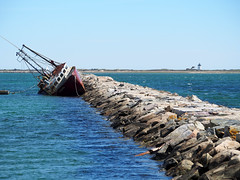 Vessel Run aground in Provincetown (T. Christensen) Tags: capsized grounded boat breakwater provincetown capecod
