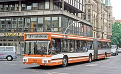 BVAG Braunschweig: 406 southbound on Bohlweg, route 13 (Mega Anorak) Tags: bus man ng2722 lowfloor articulated niederflur bvag braunschweig
