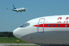 DSC_850023P (T.O. Images) Tags: qantas boeing 707 john travolta hamilton ontario yhm
