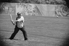 Vintage Baseball, Cantigny Park. 33 (EOS) (Mega-Magpie) Tags: canon eos 60d outdoors vintage baseball 1858 rules cantigny park wheaton il dupage illinois usa america people men players team sports dude fella person bw black white mono monochrome