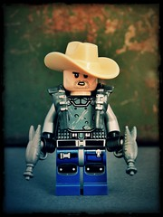 Some People Call Me Maurice (LegoKlyph) Tags: lego custom brick block mini figure space cowboy ray gun song music nerd silly zap retro