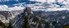 Pano from Glacier point (Yosemite National Park). (Redbird310) Tags: california nationalpark yosemite nature landscape mountains sky granite waterfall