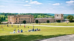 games on the lawn (khrawlings) Tags: games picnic lawn garden english country stately home house chatsworth derbyshire hills rural path sitting sport recreation