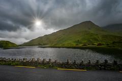 Ireland (blue5011b) Tags: ireland connemara lake sun landscape clouds hills green nikon d810