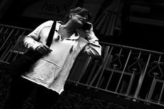 In Trouble  !!! (imagejoe) Tags: vegas nevada street strip black white photography photos shadows reflections tamron people nikon