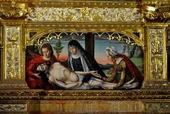 Astorga (León-España). Catedral. Retablo Hispanoflamenco, 1530. Maestro de Astorga. Predela, Deposición de Jesús (santi abella) Tags: astorga león castillayleón españa catedraldeastorga retablos