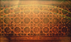 Alhambra Dome Ceiling Woodwork (Thought Knots Design) Tags: spain espana europe european euro alhambra travel adventure vacation lomo lomography texture textured sacred geometry temple palace castle magic muslim gothic arch arches architecture moors geometric woodwork stonework sculpture art artwork walls thought knots design granada light fortress roman empire andalusia royal court courtyard tile tilework nasrid gardens garden spanish islamic renaissance style fort unesco world heritage site columns arcade fountains paradise earth decoration arabic mosaics myrtles hall ambassadors lions generalife abencerrajes