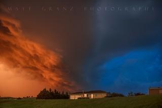 The Golden Blue Hour Storm
