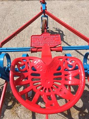 When in the fields.....take a seat. (Bennydorm) Tags: agricultural colton inglaterra inghilterra angleterre europe uk gb britain england furness cumbria bouth giugno junio juin june iphone farmmachinery farming farm red cultivator seat