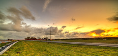 Fiery skies. (Alex-de-Haas) Tags: 11mm d850 dutch hdr holland irix nederland nederlands netherlands nikon noordholland schoorldam avond beautiful beauty cloud clouds evening hemel landscape landschap longexposure lucht mooi skies sky sundown sunset winter wolk wolken zonsondergang