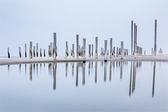 Palendorp Petten! (karindebruin) Tags: petten palendorp poles wood water reflection reflectie nederland netherlands noordholland noordzee northsea littlestopper