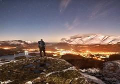 A winter's night - Walla Crag, Keswick (linda.m.davison@btinternet.com) Tags: winter skiddaw stars night snow derwentwater keswick wallacrag cumbria lakedistrict