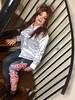 Rock chick return (Sissy kaylah) Tags: tv trans crossdressing crossdresser transvestite tranny boi gurl satinblouse leggings ironmaiden redhead