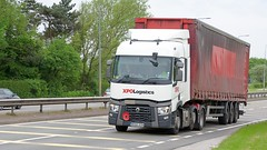 MX66 DZN (Martin's Online Photography) Tags: renault seriest truck wagon lorry vehicle freight haulage commercial transport a580 leigh lancashire nikon nikond7200 xpologistics