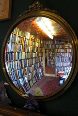 A favourite book shop (scrappy annie) Tags: derbyshire scarthinbooks cromford books bookshop mirror