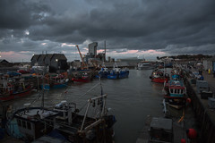 a fisherman's retreat....Whitstable harbour (stocks photography.) Tags: michaelmarsh whitstable photographer harbour sailing boats fish fishing trawler industrial coast seaside beach atmospheric cinematic