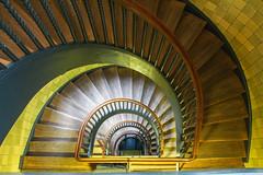 (Elbmaedchen) Tags: staircase treppenhaus architektur architecture roundandround downstairs abwärts spirale interior hulbehaus