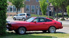 Ford Mustang II 1978 (XBXG) Tags: 00xj09 ford mustang ii 1978 fordmustang v8 coupé coupe red rood rouge wormer nederland holland netherlands paysbas vintage old classic american car auto automobile voiture ancienne américaine us usa vehicle outdoor