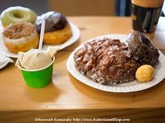 Vegan Donut & Gelato Feast (Bitter-Sweet-) Tags: vegan food sweet fried pastry donut doughnut glazed snack breakfast brunch oakland california bayarea eastbay vegandonutgelato cafe restaurant review delicious