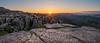El Torcal Sunrise (Matt Rimkus Photography) Tags: sunrise morning sunstar spain clearsky mountains andalucia rocks antequera andalucía spanien es rugged eltorcal