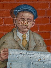 Old News (e r j k . a m e r j k a) Tags: pennsylvania butler mural publicart figure us422 pa68 pa8 erjk explore